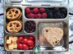 "36 Likes, 3 Comments - Moksha Bruno (@the_hippie_city_chick) on Instagram: ""Extra lovin in his lunchbox ❤ - heart pb and j on gluten free raisin bread - raspberries and…"""