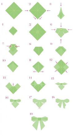 Make an origami bow
