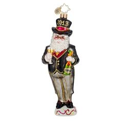 Christopher Radko Christmas Ornament - New Year's Nick 2013