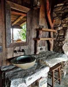 rustic bathrooms - Buscar con Google
