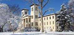 Old Main @Amanda Snelson Snelson Wofford College, Snow is the best!