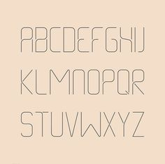 Thin Line Font on Behance