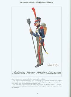 The Confederation of the Rhine - Mecklenburg – Strelitz : Mecklenburg - Schwerin: Plate 3. Mecklenburg-Schwerin, Artillery Company, Corporal, 1812
