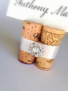 Gemstone Premium Wedding Place Card Holder