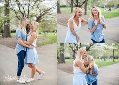Lesbian engagement photos. Capturing the emotion and fun with these beautiful ladies. Such an amazing same sex couple. Engagement session in piedmont park.