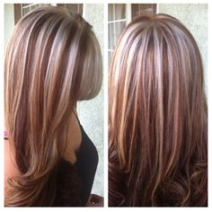 #platinum & red #highlights ♥