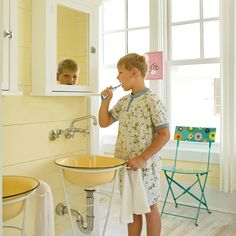 Vanity With Flair - Beach House Bathrooms - Coastal Living