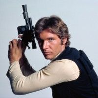 Han Solo with blaster