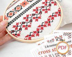 Ukrainian embroidery designs Ukrainian cross stitch pattern red black embroidery Ukrainian pattern gift mother Ukrainian ornament for mom