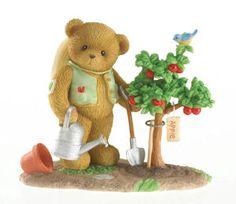 "Cherished Teddies Cherish The World ""Carrington: Plant With Love"" Spring Gardening Figurine"