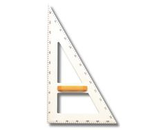 Zeichendreieck, 90°,60°,30°, Kunststoff weiß, Hypotenuse 50 cm