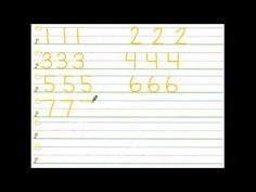 The same Song Chant for writing numerals that we use in kindergarten!!