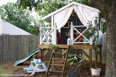 Tutorial to build a playhouse (wendy house / hideout / clubhouse or fort)