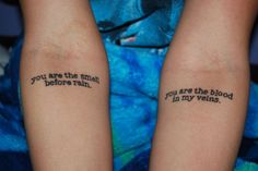 nice Women Tattoo - you are the smell before the rain   Minimal Tattoos