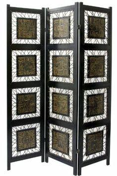 Oriental Furniture Unique Modern Design, 6-Feet Tall Bamboo Leaf Folding Screen Room Divider