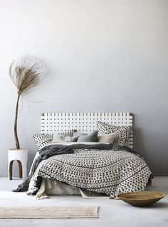 Inca Quilt Cover Set in Steel Grey, AURA Home, AW17