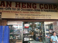 """New Sin Kian Heng. Best place to get glass, bar and kitchenware in Manila."""