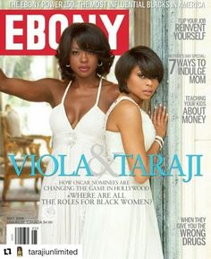 #Repost @tarajiunlimited with @repostapp  TBT: Viola Davis & Taraji P. Henson for Ebony Magazine #tarajiphenson #ViolaDavis EmpireBBK.com
