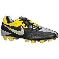 Nike T90 Shoot lV FG Junior Size 11.5 Black/MetallicLuster/Tour Yellow by  Nike
