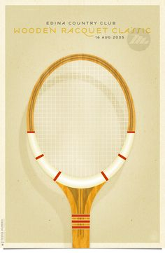 Wooden Racquet Classic Posters