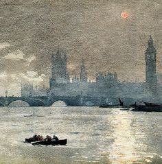 'The Houses of Parliament' (detail), 1881 - Winslow Homer