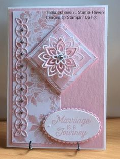 Tania Johnson : Stamp Haven: Incolours 2017 - 2019 Wedding Cards Handmade, Handmade Birthday Cards, Greeting Cards Handmade, Paper Cards, Folded Cards, Birthday Cards For Women, Birthday Images, Birthday Quotes, Engagement Cards