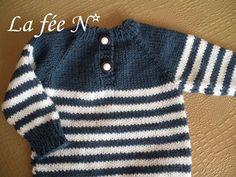 modèle tricot pull marin bébé