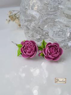 """Set """"povestea bujorului """" - Fimoclas Stud Earrings, Jewelry, Jewlery, Jewerly, Stud Earring, Schmuck, Jewels, Jewelery, Earring Studs"""