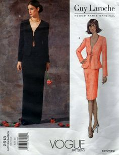 Vogue 2513 Guy Laroche Suit Jacket and Skirt Evening by sandmarg