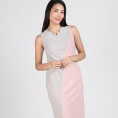 cf6fac0514091 SALE | Look sleek and clean with our Maddie Scallop Midi Nursing Dress.  Dont miss out on our sales promotion!
