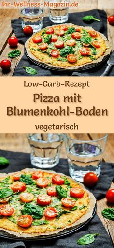 Low Carb Blumenkohl-Pizza - gesundes, vegetarisches Hauptgericht - Low Carb Abendessen - Rezepte - Low-carb recipe for cauliflower pizza – vegetarian dinner or lunch, low-calorie, low-carb, healthy and ideal for losing weight Kale And Cabbage Recipe, Cabbage Recipes, Cabbage Soup, Cauliflower Pizza Healthy, Cauliflower Recipes, Healthy Pizza, Low Carb Pizza, Low Carb Diet, Pizza Pizza