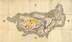 Map of Yamashiro Province, Author Unknown (19th Century) #cartography