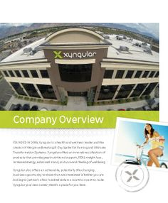 We continually want to provide new tools and resources that make it easier for you to build your Xyngular business. This week, we have an updated company overview document for your use, available now!
