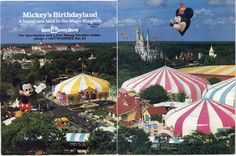 thelittlestmouse: 2/14: Mickey's Birthdayland was a new land added into the Magic Kingdom in 1988, and featured a giant inflatable Mickey Mouse (seen on the bottom left of the picture). Anyone else have a better photo of the inflatable Mickey? This is the best I could find…