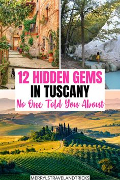 Are you looking to skip the regular tourist crowds and explore Tuscany at it's purest? Here are 12 of the prettiest hidden gems to visit in Tuscany off-the-beaten path for you upcoming trip to the beautiful Italian region. Tuscany | Hidden gems in Tuscany | Tuscany Destinations | Italy | Italy Travel Destination | Travel Italy Tips | Travelling to Italy | Places in Italy | Italy Itinerary | Italy Inspiration | Authentic Italy | Hidden Gems in Italy | Italy Lovers European Travel Tips, Italy Travel Tips, Rome Travel, Travel Europe, Beautiful Places To Visit, Cool Places To Visit, Travel Ideas, Travel Inspiration, Italy Destinations
