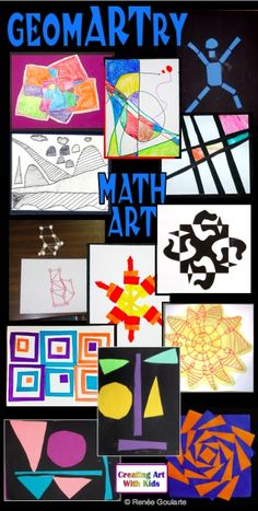 Geometry Integrated Art Activities - geometry vocabulary, geometric shapes, measuring skills, symmetry, three-dimensions, and estimating skills