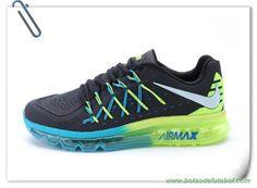 reputable site 441e3 b76ef Masculino Nike Air Max 2015 Preto Jade Fluorescence Verde venda de  chuteiras Cheap Nike
