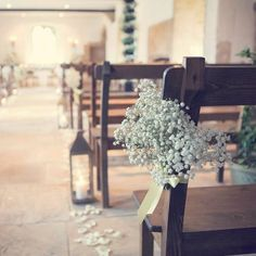 Simple gypsophilia used to gorgeous effect at outstanding wedding venue Brympton House in Somerset. #somerset #aisle #flowers #weddingflowers #gypsophilia #weddinday #weddingvenue #venue #weddingceremony #westcountry