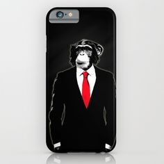 #chimp #suit #monkey #tie #illustration #digital #office #corporate #chimpanzee #style #classy #cool #iphone #iphonecase #case #iphone6 #iphone6case
