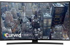 """Samsung - 65"""" Class (64.5"""" Diag.) - LED - Curved - 2160p - Smart - 4K Ultra HD TV - Black - Front Zoom"""