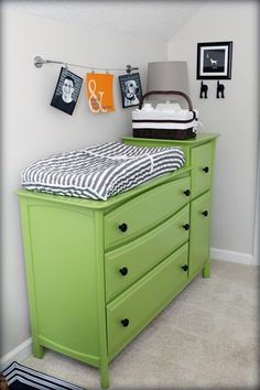 Looks like a regular dresser/tall dresser that you can move and use as they grow. Practical!