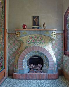 This fireplace is a work of art.