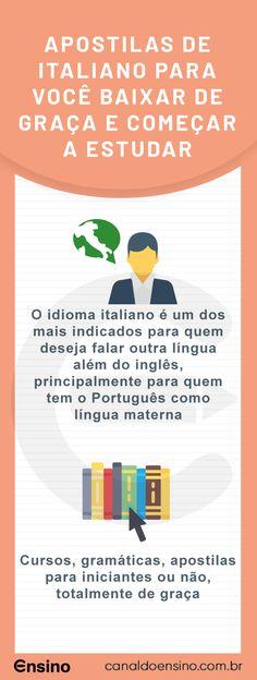 Apostilas de Italiano para você baixar de graça e começar a estudar #apostilasitalianogratis #idiomas