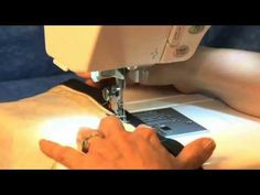 How to use Janome Zipper Foot E