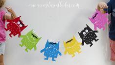 Guirnalda del Monstruo de Colores para imprimir - Susurros y otras cositas calladas