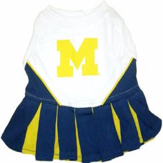 """-""""University of Michigan Cheerleader Outfit for Dogs"""""""