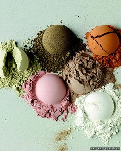Skin-Firming Mask    Cosmetic clay contains a host of skin-nourishing minerals, and its naturally absorbent properties help draw debris, dead skin cells, excess oils, and other toxins from pores. Used weekly, a clay mask (also called a mud mask) results in a smooth, supple, deeply clean complexion.
