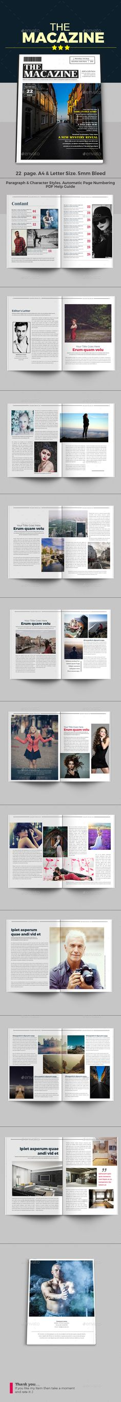 The Macazine  — InDesign Template #fashion #professional • Download ➝ https://graphicriver.net/item/the-macazine/18190111?ref=pxcr