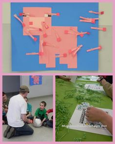 Pin the tail on the pig minecraft.