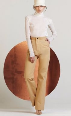 Gabriela Alexandrova Flared cotton twill Cloche Trousers